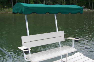 Bench with Armrest & Canopy